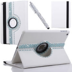 IPad 2/3/4 360 Rotating Diamond Leather Cover