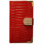 Samsung Galaxy Note 3 Wallet Leather Snake Small Diamond Buckle