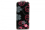 IPhone 5/5S Flip leather Flower Printed Case