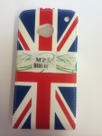 HTC One -M7 Flip Leather Union Jack
