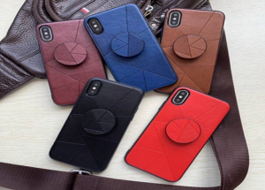 Galaxy A20E Back Leather Clip Case