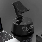 Wireless Charging & Bluetooth Speaker With Time Display