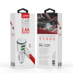 Car Charger Double USB Socket With Cable