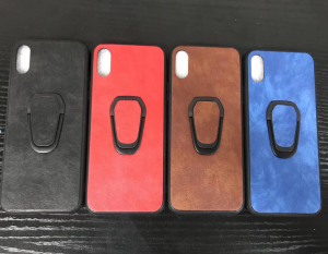 Huawei P30 Back Leather Ring Case