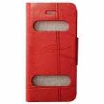 Iphone 5C Double Window Wallet Leather Case