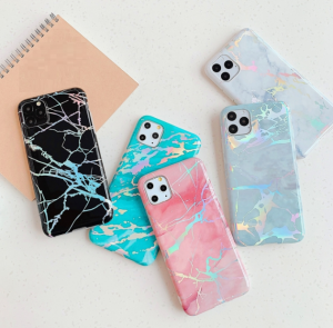 IPhone X/XS Corner TPU Marble Design Case