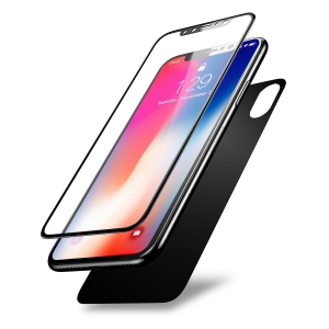 IPhone X 2in1 Tempered Glass