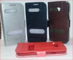 Galaxy S4 i9500 Wallet Double Window New Leather Case