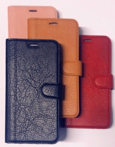 IPhone 5G/SE Wallet Soft Stitches Leather Case